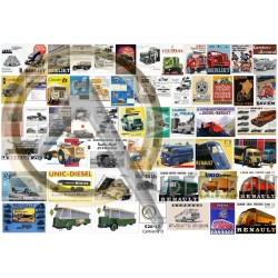 55 FRENCH TRUCKS BUILDERS ADS & POSTERS O