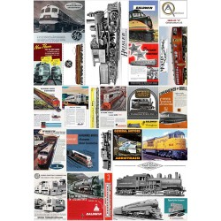 AFFICHES FABRIQUANTS de LOCOMOTIVES US