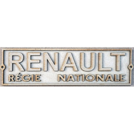 ABH RENAULT PLATE