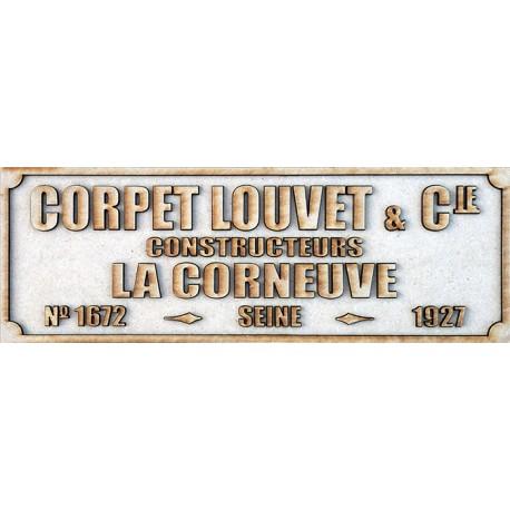 CORPET-LOUVET PLATE 1679-1925