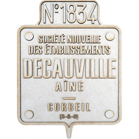 DECAUVILLE BUILDER PLATE