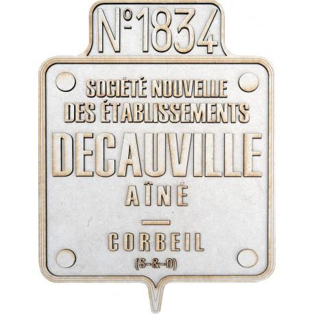 PLAQUE CONSTRUCTEUR DECAUVILLE