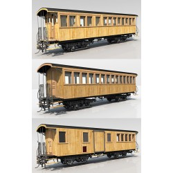 HOm CP SECOND CLASS + II/I CLASS + II/LUGGAGE VAN READY TO GO MODELS