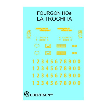DÉCALCOMANIE 2 FOURGONS TROCHITA HOe