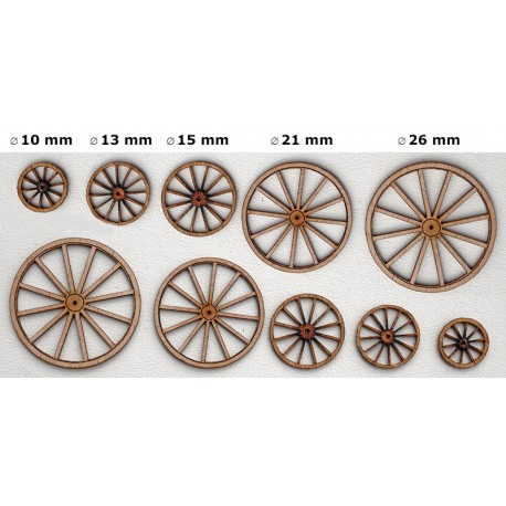 CARRIAGE WHEELS in O to CUT