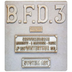 PLAQUE BFD HGe 3/4