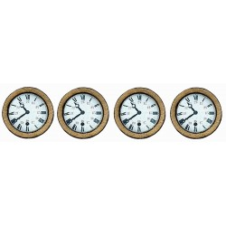 4 WALL CFD CLOCKS