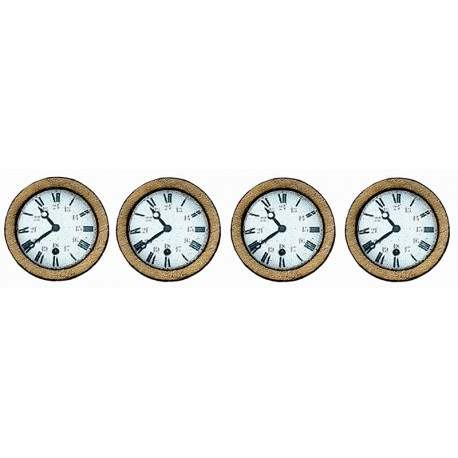 4 WALL CFD CLOCKS