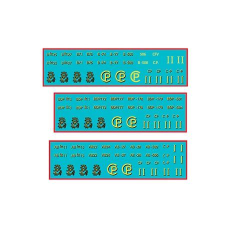 HOm I/II, II, II/LV CP COACHES DECALS