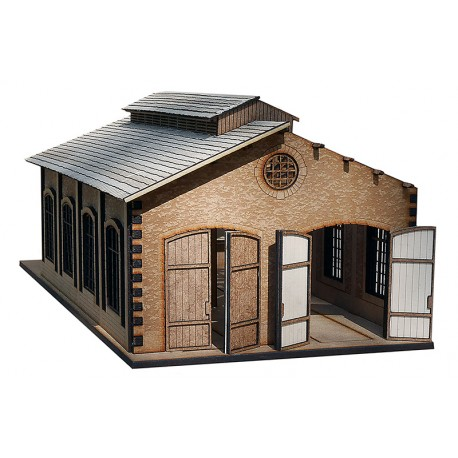 CP DOUBLE ENGINES HOUSE WOODEN KIT