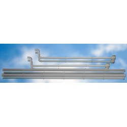 GUTTERS for TWO BAYS RAILWAY STATION KIT.