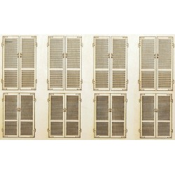 2 x PAIRS of WOOD SHUTTERS