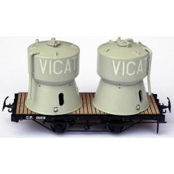 WAGON PLAT AVEC 2 CUVES VICAT HOm
