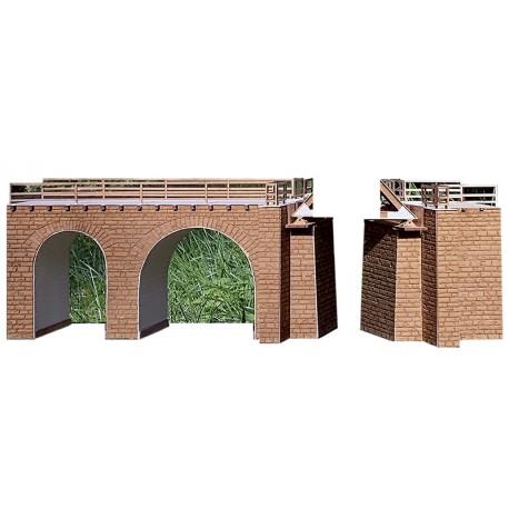 TAVANASA RhB BRIDGE PAIR OF ABUTMENT