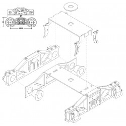 I ARCHBAR TROCHITA TRUCK BRASS KIT