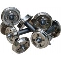 4 Oe AXLES WITH TROCHITA NICKEL WHEELS