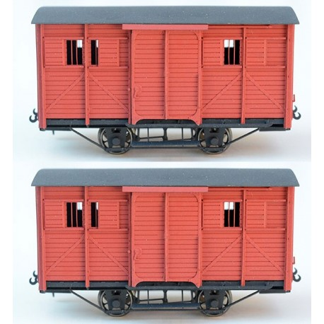 PAIR OF READY TO GO HOm CP BOX CARS