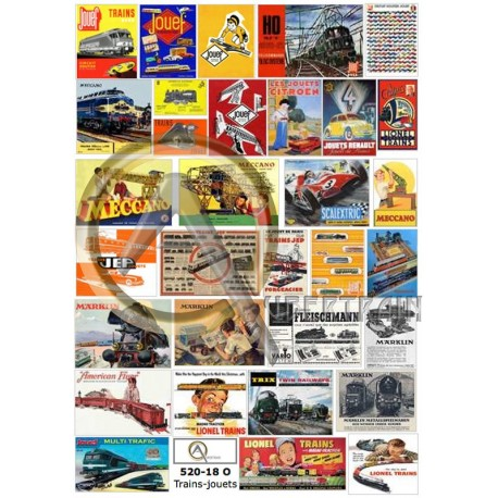 TOYS TRAINS POSTERS