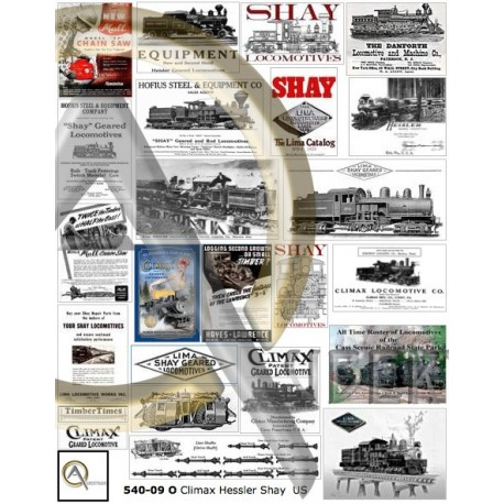 GEARED LOCOMOTIVE POSTERS O