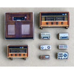 10 DIFFERENT OLTIMER RADIOS