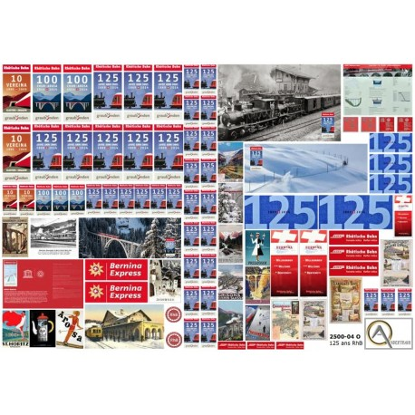 80 RHB 125 ANNIVERSARY POSTERS & ADS