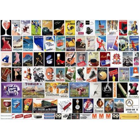 91 AFFICHES PUBLICITAIRES SUISSES