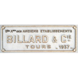 BILLARD PLATE