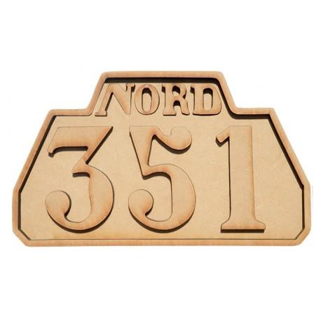 DIESEL 351 PLATE