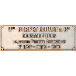 CORPET-LOUVET PLATE
