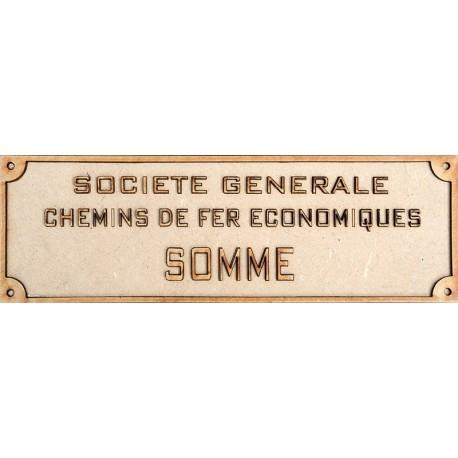 CHEMINS DE FER ÉCONOMIQUES PLATE