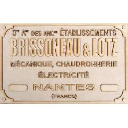 BRISSONEAU & LOTZ PLATE