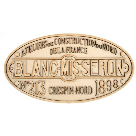 030T BLANC MISSERON PLATE