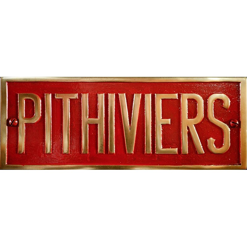 POSTERS & PLATES > BUILDERS PLATES > FRANCE > PITHIVIERS PLATE