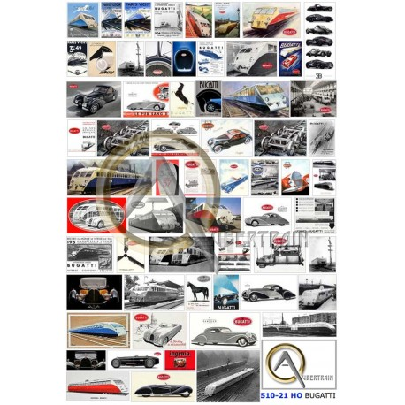 FRENCH BUGATTI CARS BUILDER POSTERS