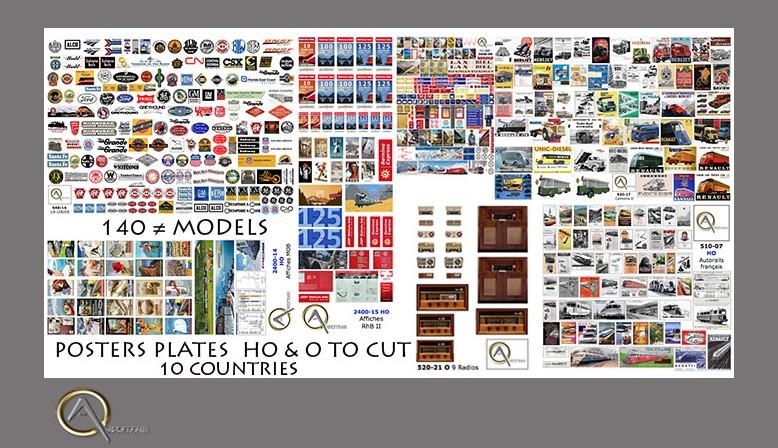 130 plaques d'Affiches à découper